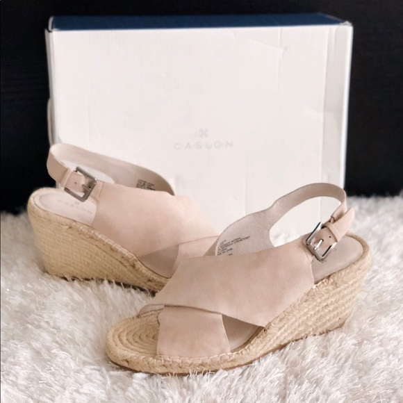 e1c5dbf91cd ✨New CASLON Suri Espadrille Wedge Suede Sandals NWT